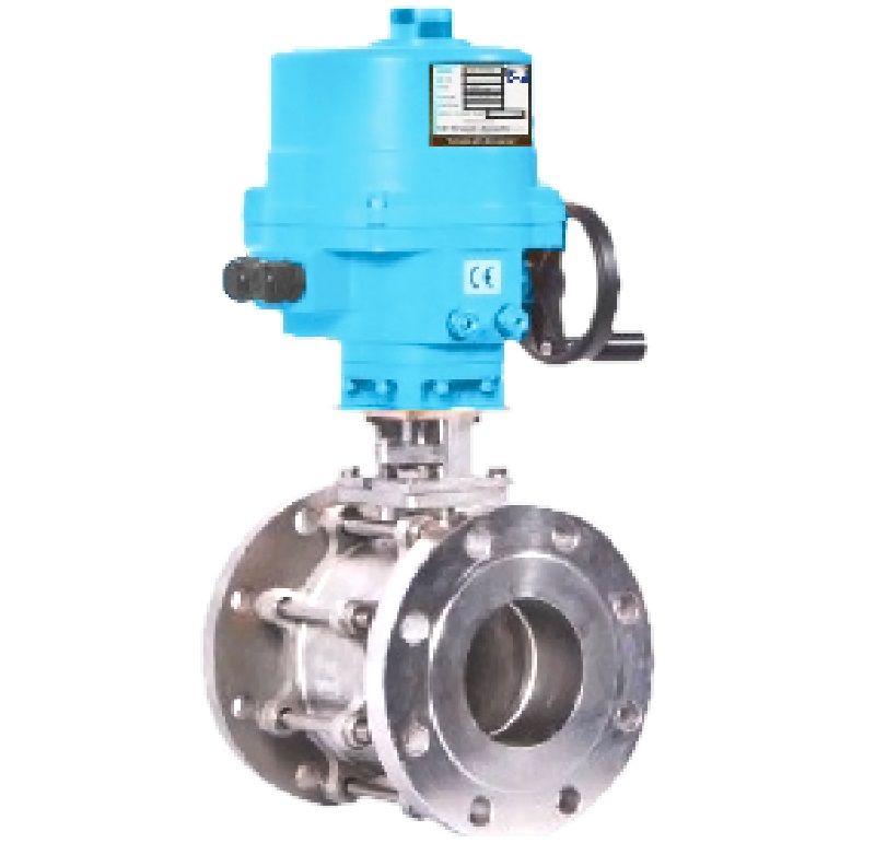 2 Way Ball Valve Electrical Actuator Operated Flanged End