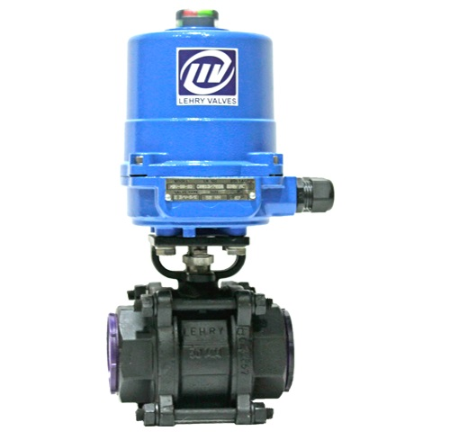2 Way Ball Valve Electrical Actuator Operated Screwed End