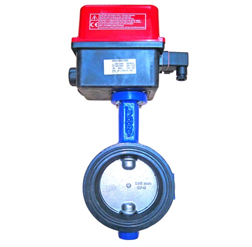 Butterfly Valve Electrical Actuator Operated