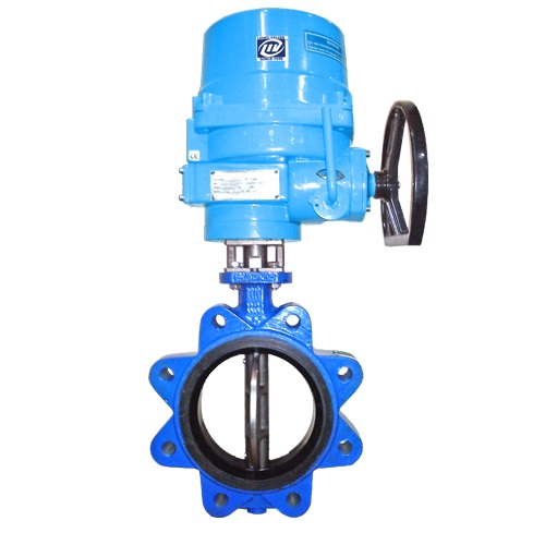 Lug Type Butterfly Valve Electrical Actuator Operated