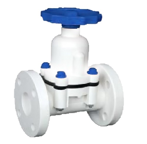 POLYPROPLENE DIAPHRAGM VALVE FLANGED / SCREWED END